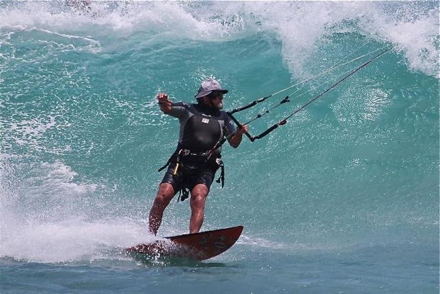 Mike Doyle Kite Surfing at the East Cape, Los Cabos